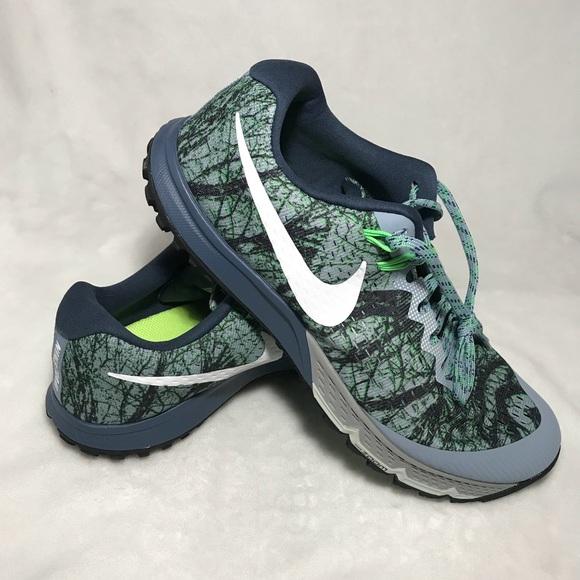 125d0df830fb5 Nike Air Zoom Terra Kiger 4 Gray Green Men s